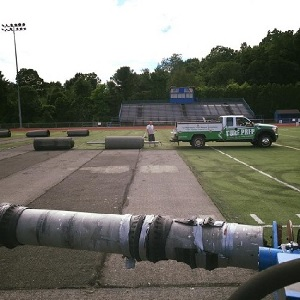 turf removal on athletic field