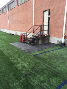 recycled turf installation