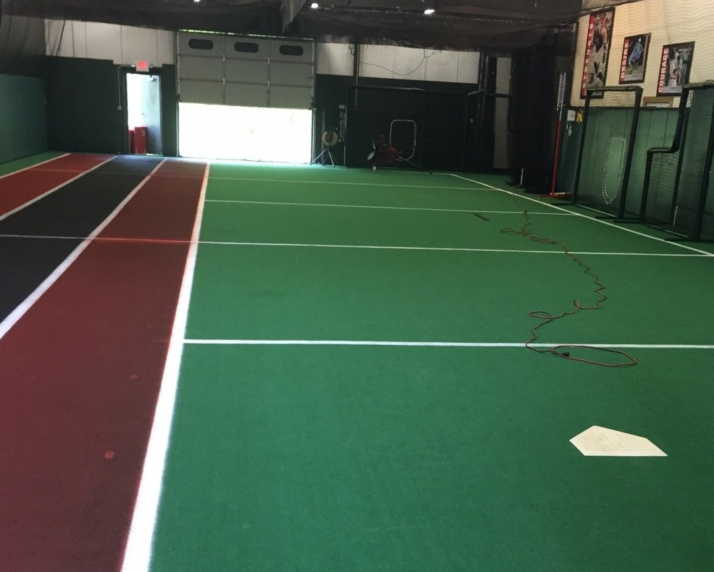 Indoor Outdoor Athletic Court Installation Turf Prep